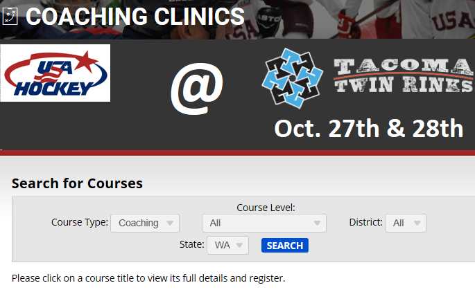 Coaching Clinic in Tacoma
