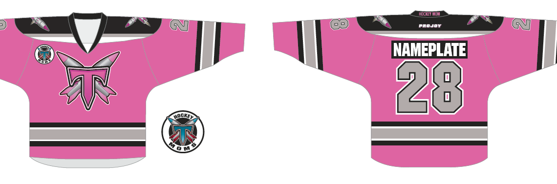 Pink Hockey Mom Personalized Jerseys!!! $65